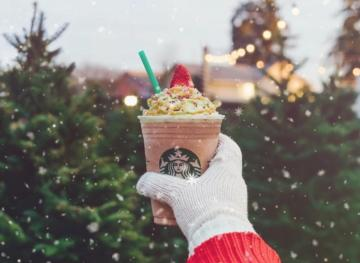 Starbucks Has A Christmas Tree Frappuccino And It's All Kinds Of Festive