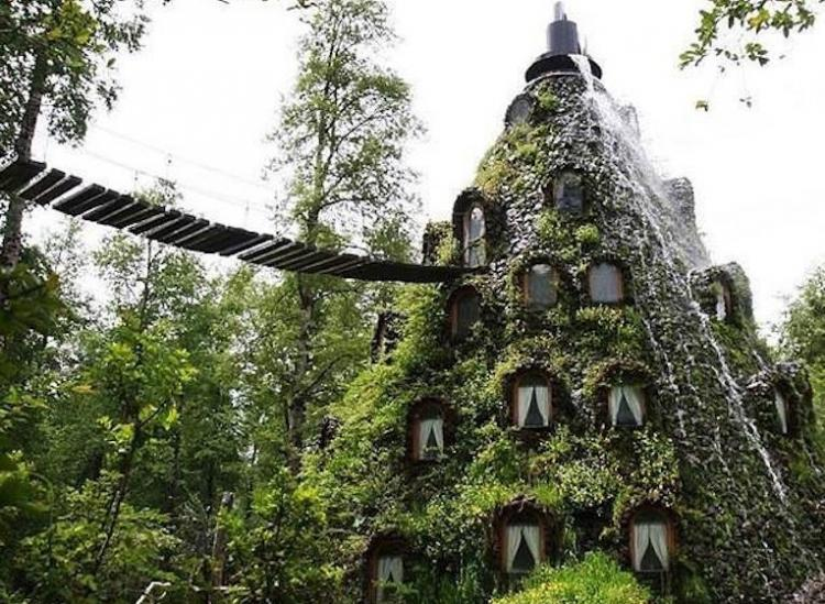 This Fantastical Chilean Lodge Is A Luxurious Blend Between A Waterfall And A Hotel