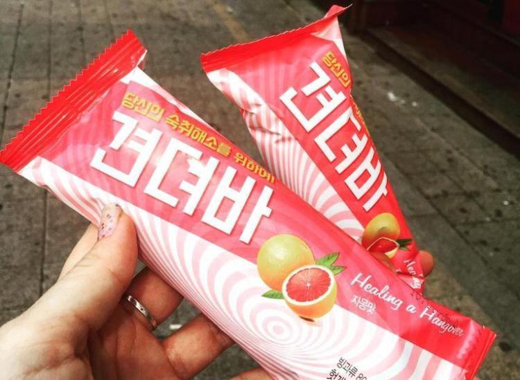 Hangover ice cream bar South Korea