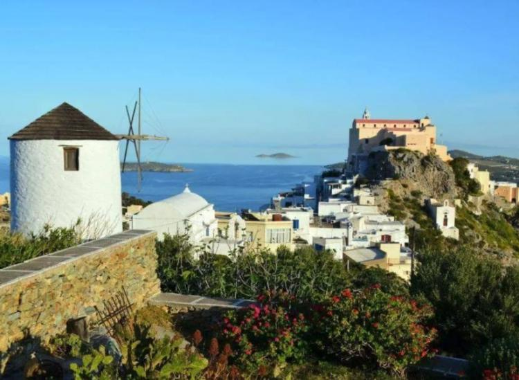 greek island windmill airbnb