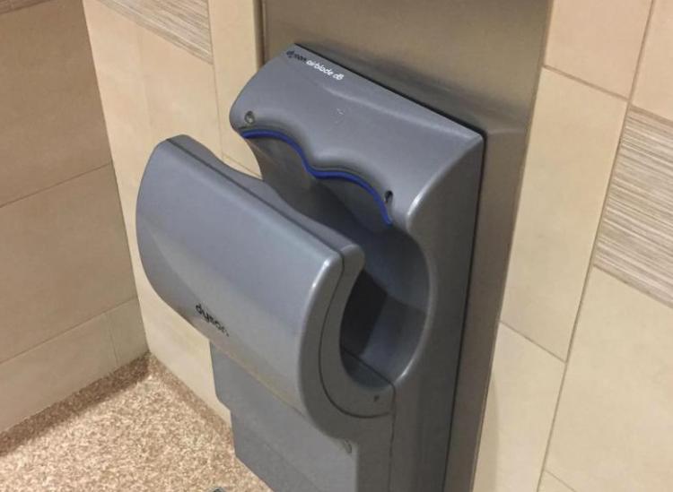 hand dryer poop study