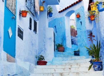 This Bright Blue Village Is Called The Pearl Of Morocco