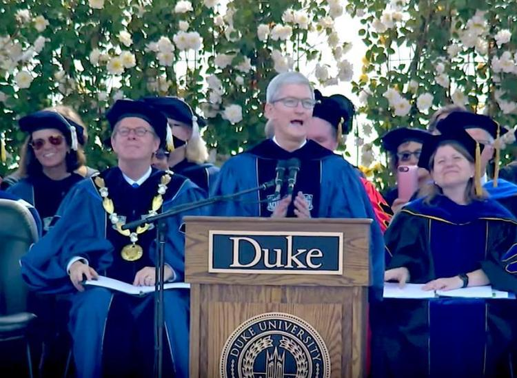 tim cook duke graduation speech