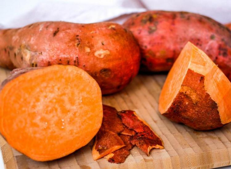 how to roast sweet potatoes whole