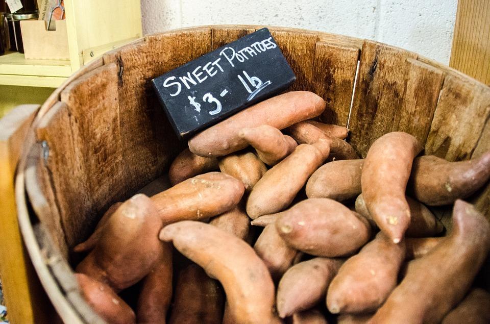 how to roast sweet potatoes whole
