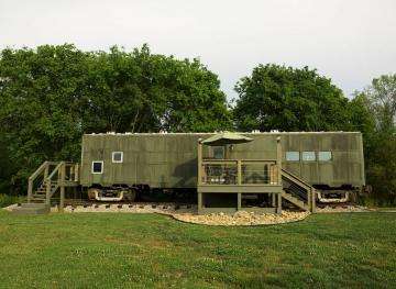 This Former WWII Train Car Turned Luxury Airbnb Is A History Buff's Dream