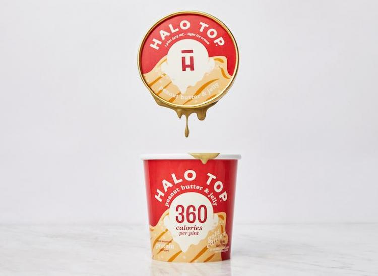 Halo Top peanut butter and jelly flavor