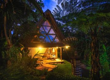 This Bamboo Bungalow Nestled Near Bali's Volcano Is All Yours For $44 A Night