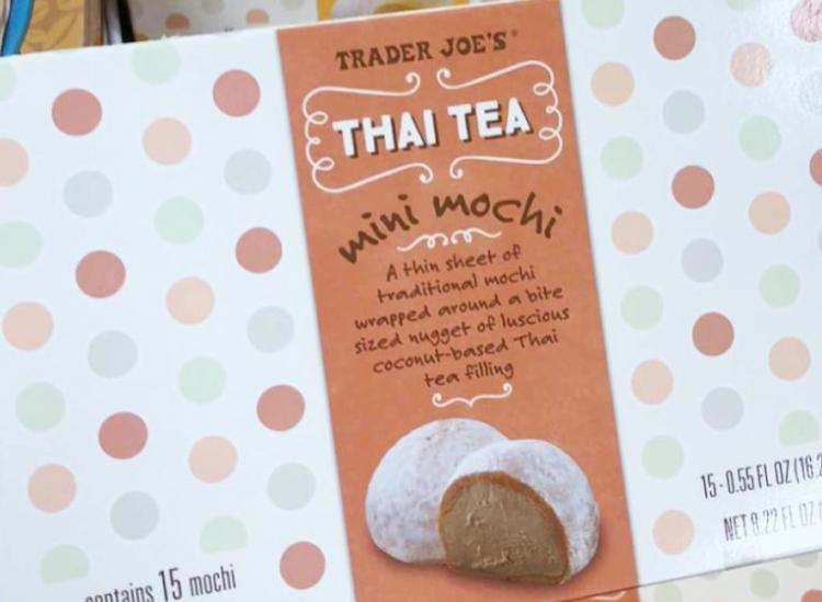 Trader Joe's Thai Tea mochi