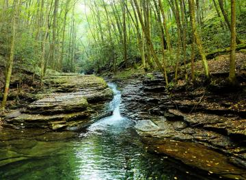 Hiking To Virginia's Devil's Bathtub Means 13 River Crossings And Rock Scrambling