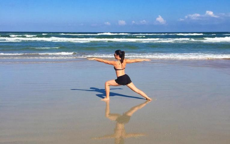 living in steil beach yoga