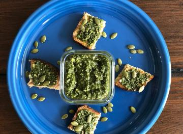 You'll Want To Drizzle This Pumpkin Seed Oil Pesto On Everything You Eat This Fall