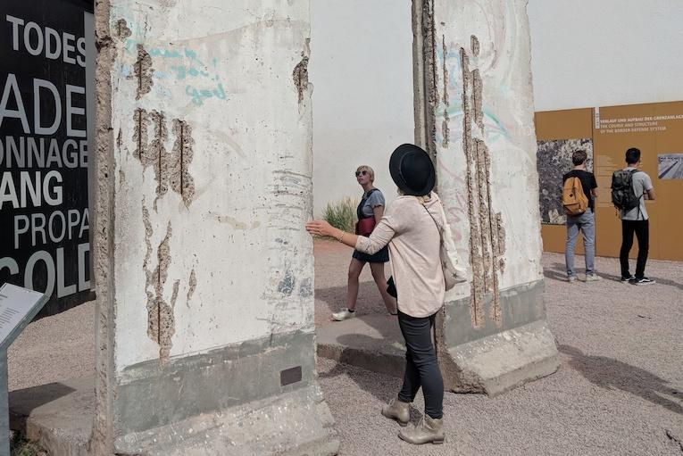 visiting the berlin wall