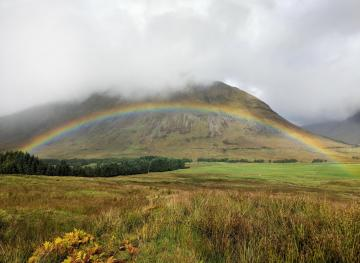 Hiking The Scottish Highlands Means Mountains, Valleys And Lots Of Rainbows