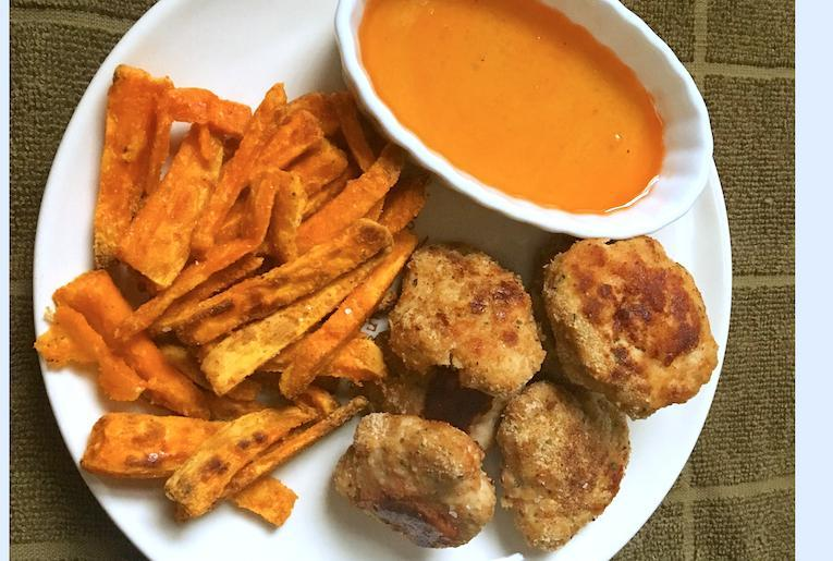 chicken nuggets and sweet potato fries recipe