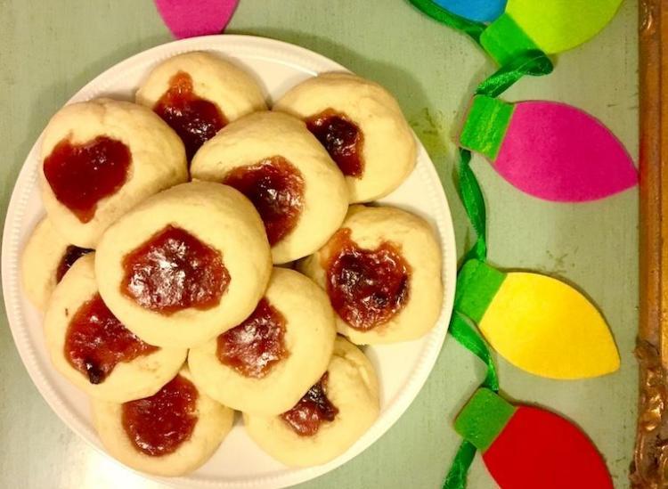 sugar plum thumbprint cookie recipe