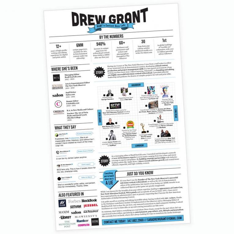 drew grant resume