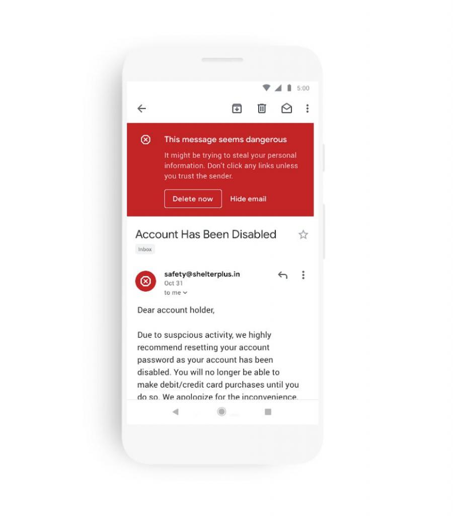 gmail changes three