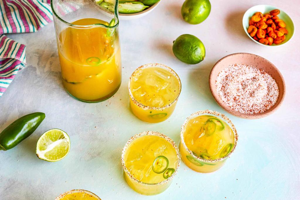 pineapple jalepeno margarita