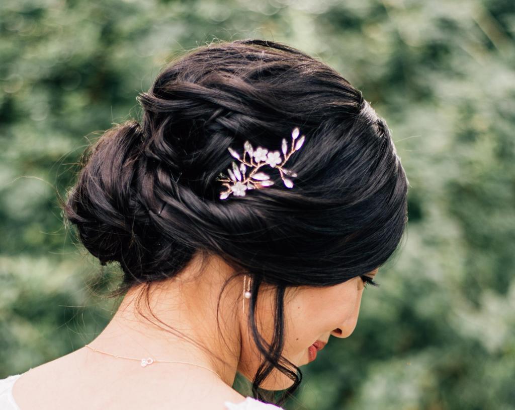 blush and braids hairdo