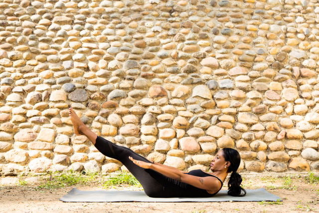 Abena Tolentino pilates workout